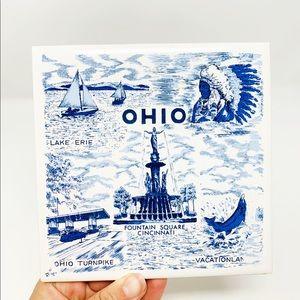 Vintage made in Japan Ohio ceramic tile trivet
